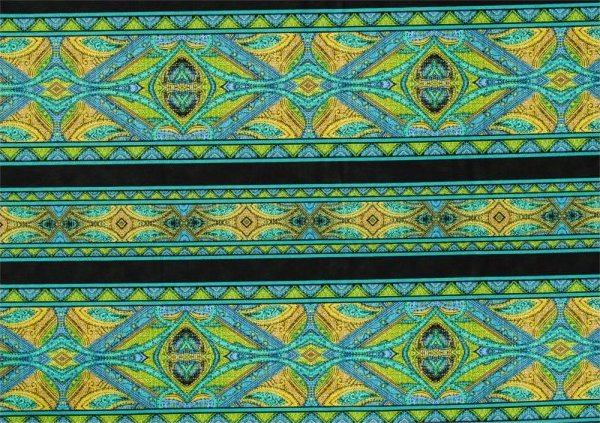 Rajasthan border stripe by Jinny Beyer - Turquoise