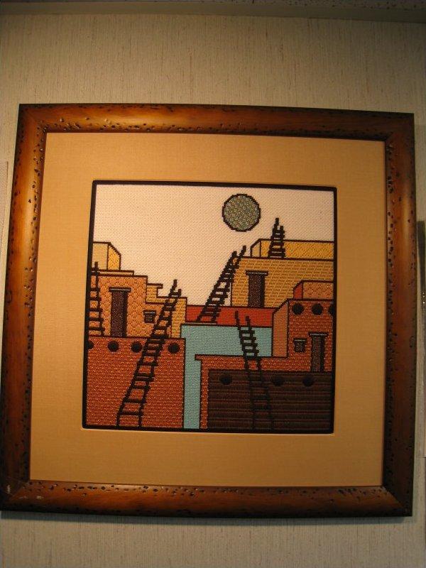 Pueblos framed-O9B