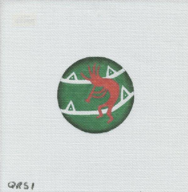 Red Kokopelli ornament- QRS 1