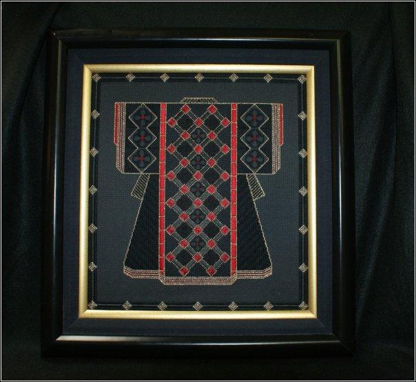 Black Diamonds Kimono-CH1002 counted