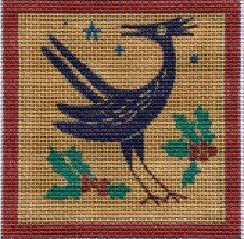 Purple Bird  3..5' x3.5 QRS 12