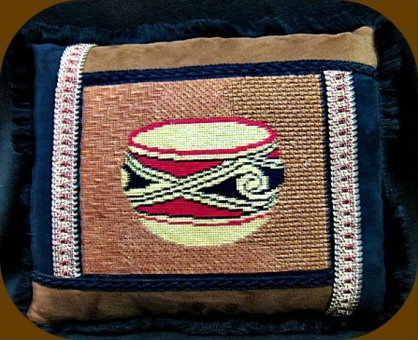 Southwest Indian Pot Pillow C4