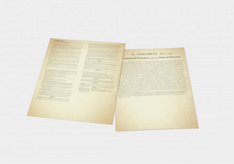 Set of one Constitution and Declaration