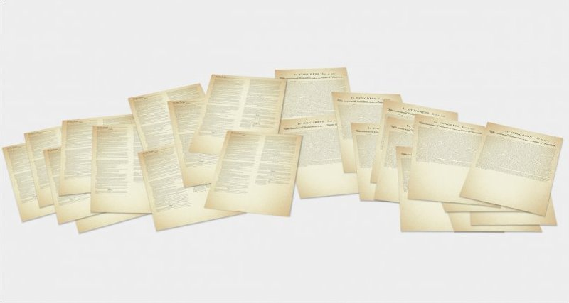 Set of 30 Constitutions and Declarations