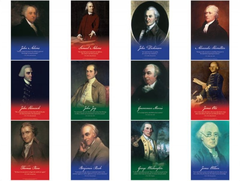 Founding Fathers Series 2 - 12 11x17 posters