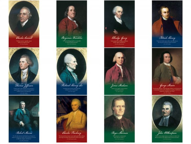 Founding Fathers Series 1 - 12 11x17 posters