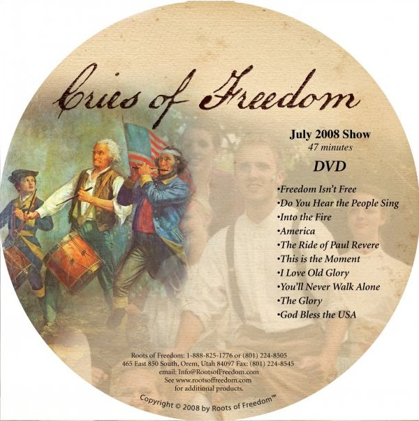 Cries of Freedom 2008 stage show on DVD