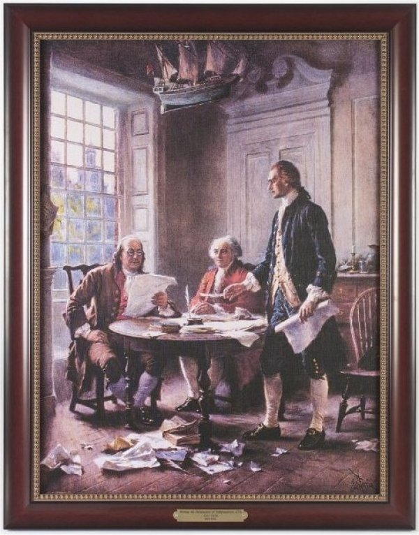 Executive Gallery painting of The Writing of the Declaration of ...