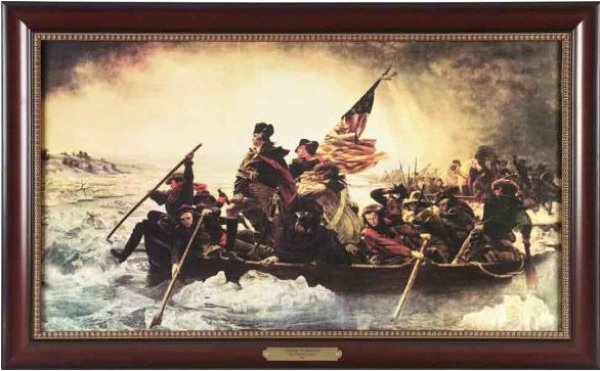 Executive Gallery painting of Washington Crossing the Delaware by Emmanuel Gottlieb Leutze, 1816-1868