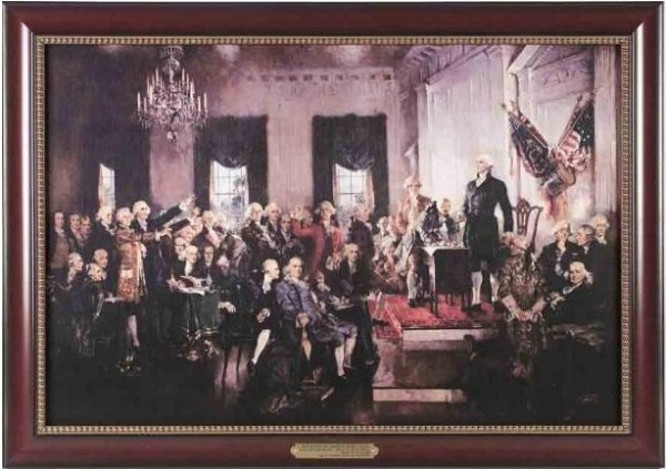 Executive Gallery painting of Signing the Constitution by Howard Chandler Christy, 1873-1952