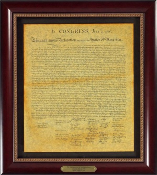 Executive Gallery image of The Declaration of Independence document