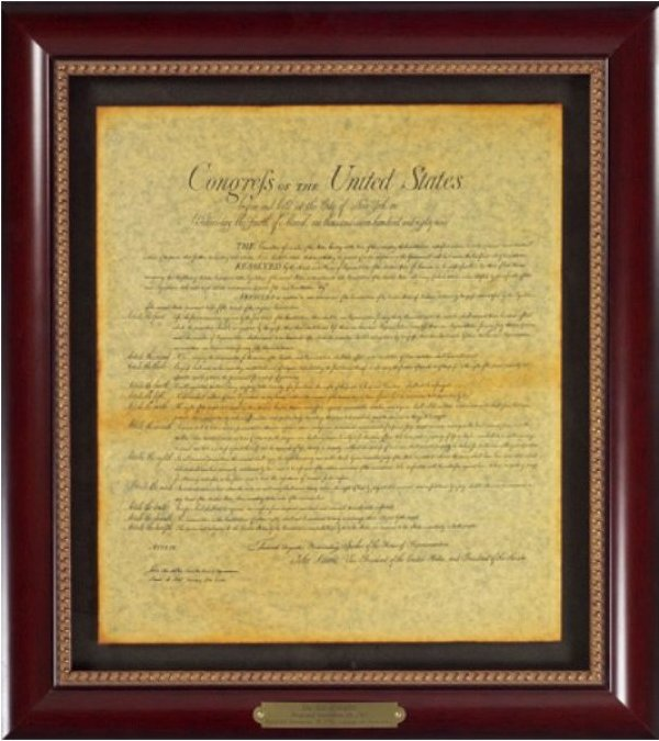 Executive Gallery image of The Bill of Rights document
