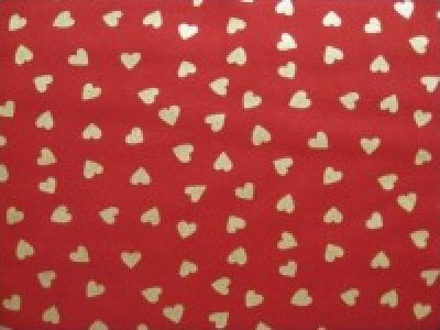 Metallic gold hearts