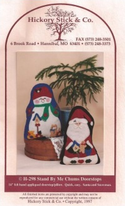 Pattern: Stand by Me Chums Doorstops