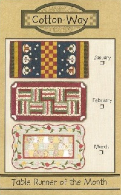Pattern: Table Runner of the Month from Cotton Way