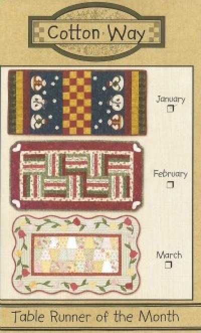 Pattern: February Table Runner from Cotton Way