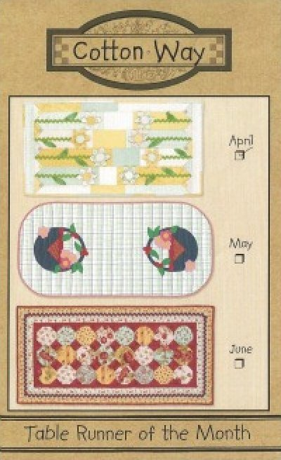 Pattern: April Table Runner from Cotton Way