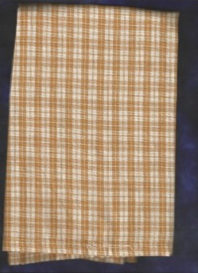 Gold Check towel by Dunroven House