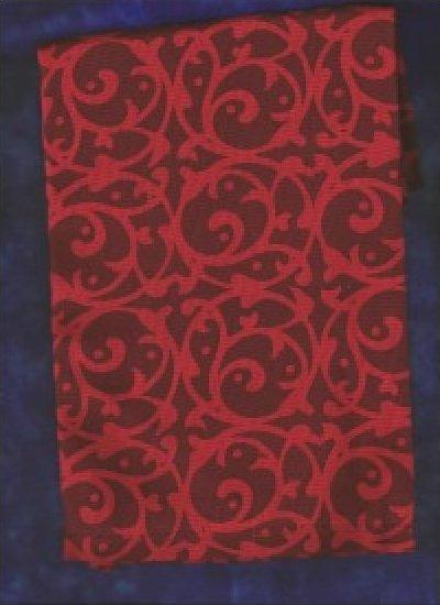 RED Scroll Art to Heart Tea Towel
