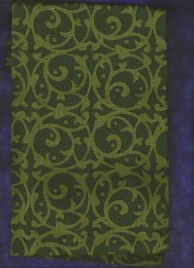 Green Scroll Art to Heart Towel