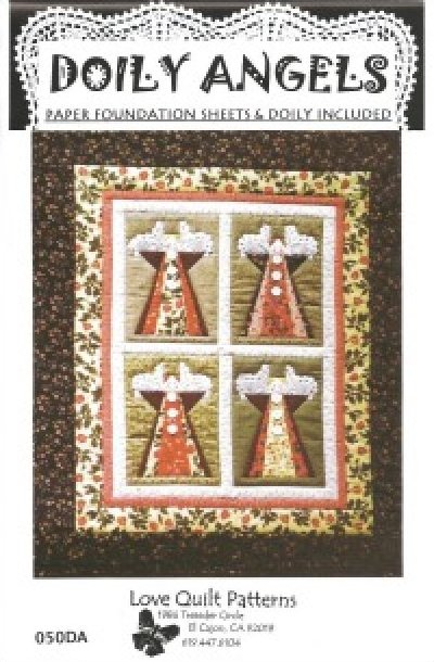 Doily Angels from Love Quilt Patterns (paper-piecing)