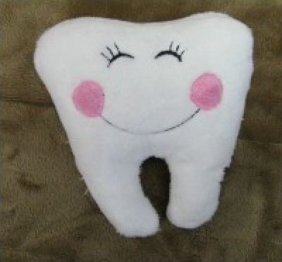 Tooth Pillow and Badge by Pickle Pie Designs