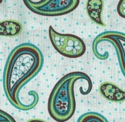 Groove On by Marie Osmond for Quilting Treasures (blue paisley)