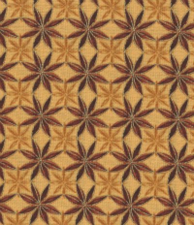 Nutmeg Cinnamon Star of the Siena Collection by Maria Kalinowskifor Kanvas of Benartex
