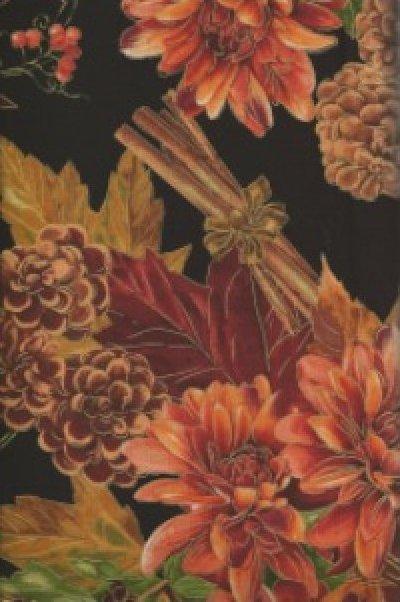 Black Fauna Bouquet from the Siena Collection by Maria Kalinowski for Kanvas of Benartex