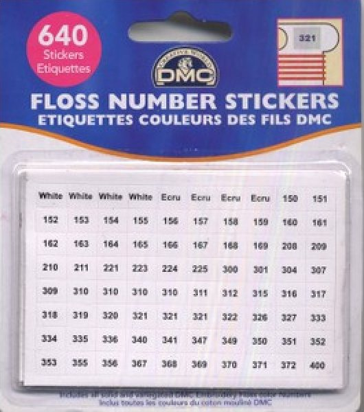 DMC Floss Numbers Sticker Pack - 321