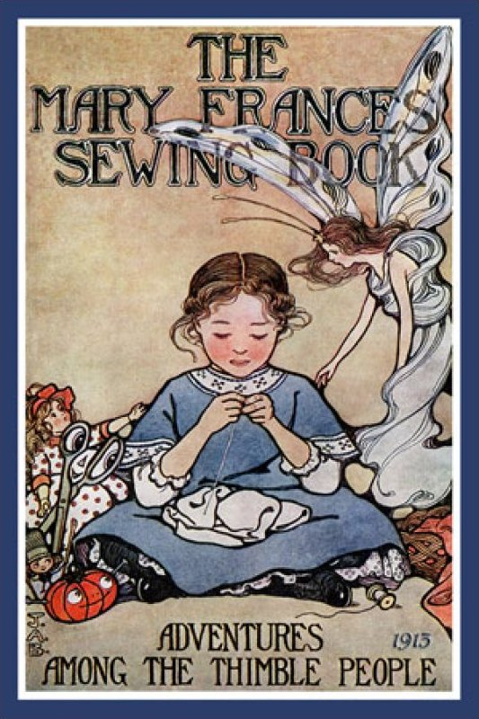 Vintage Panels - The Mary Frances Sewing Book - Single Panel 5x8