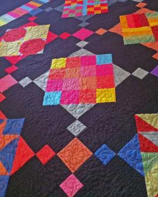 Amish With A Twist I BOM Quilt - Queen or King! : solid color quilts - Adamdwight.com