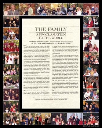 Family Proclamation OPTION A:  28 photo spots