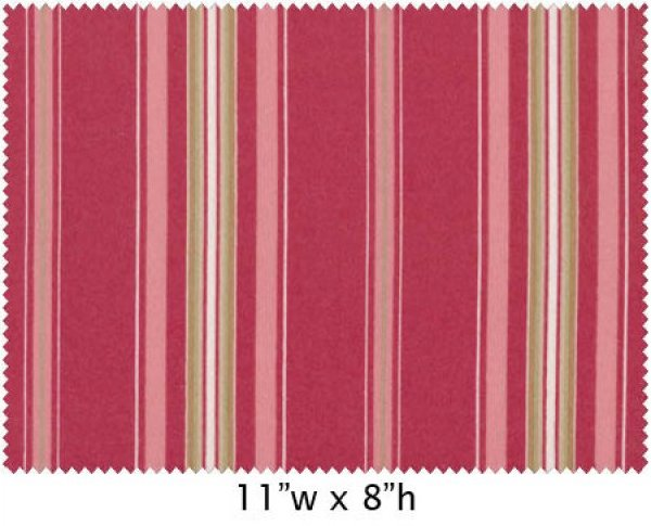 Winter Whites Flannel Large Stripe Red