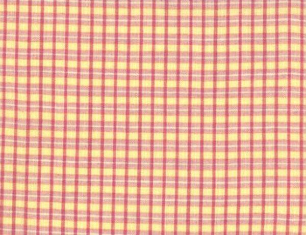 Maypole Yellow Woven Plaid