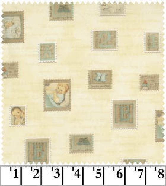 Tiny Treasures Stamps on Pale Yellow