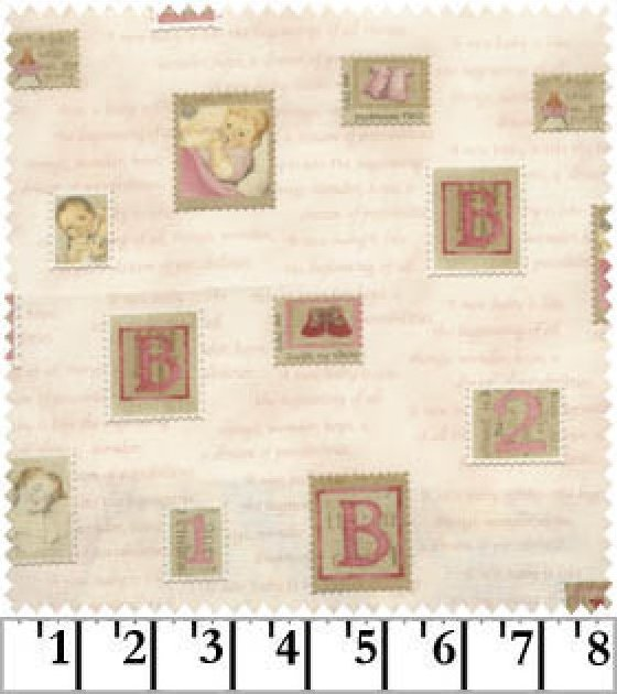 Tiny Treasures Stamps on Pale Pink