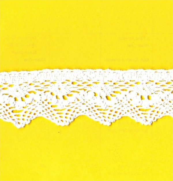 Cotton Crochet Lace White 1-1/2
