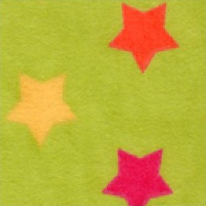 Aunt Polly's Flannel Multi-Colored Stars on Lime