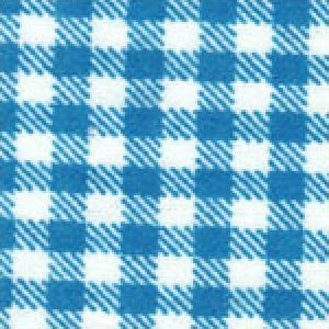 Aunt Polly's Flannel Gingham Turquoise