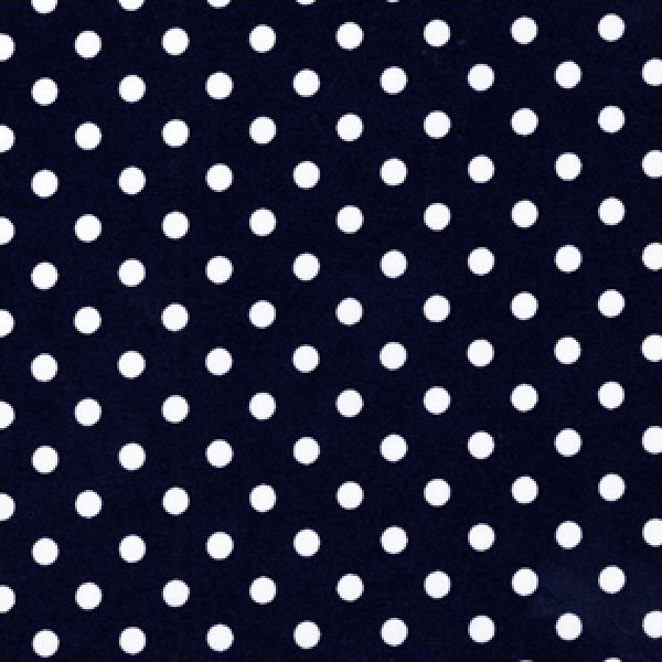 Dumb Dots - White Dots on Navy