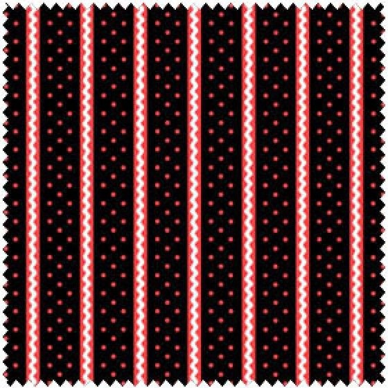Annie Dots and Rick Rack Strip on Black