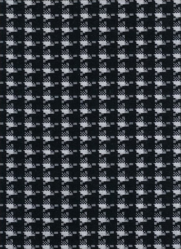 Tailor Made Flannel Black Houndstooth