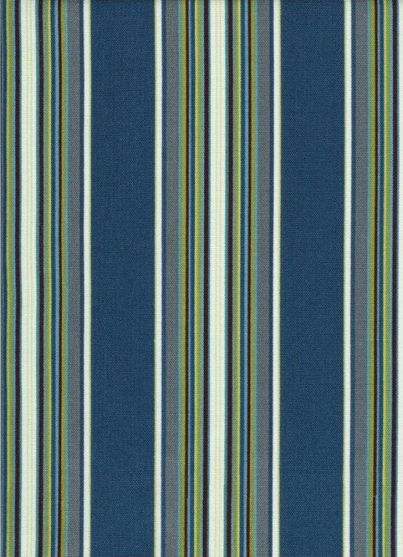 Timeless Treasures Canvas Blue Stripe