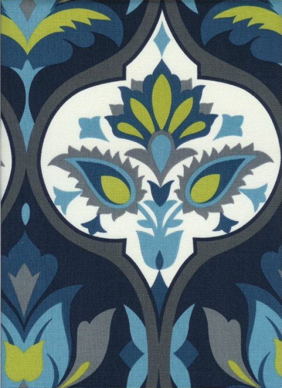 Timeless Treasures Canvas Floral Blue