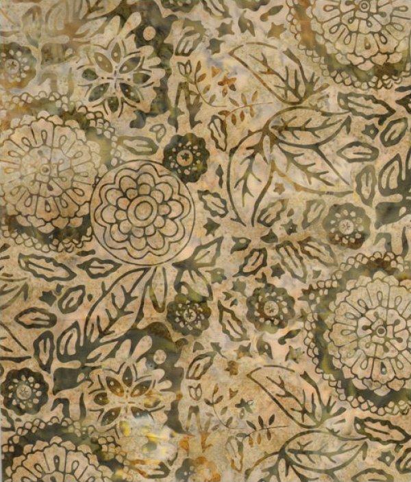 Tonga Batik Khaki Contempo Garden
