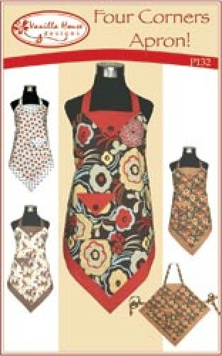 Four Corners Apron Pattern Easy and Fun to Make Several Variations in this Pattern Kit