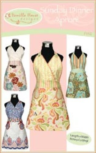 Sunday Dinner Apron Pattern Vintage Graceful and Chic! Sizes 4 - 14 in this Pattern Kit