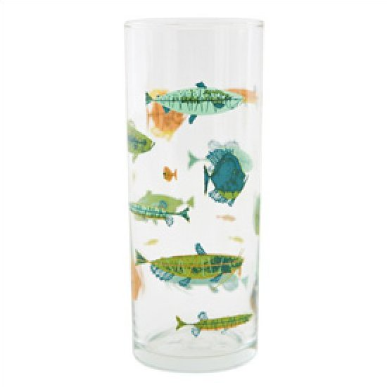 Charley Harper Retro School Of Fish Glware Bar Gl Mid Century Modern Design Todd Oldham 12 Ounce