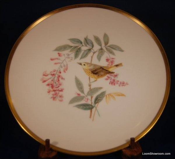Audubon Hutschenreuther Gelb Bavaria Germany Pasco Yellow Warbler Bird Painted German Porcelain Plate
